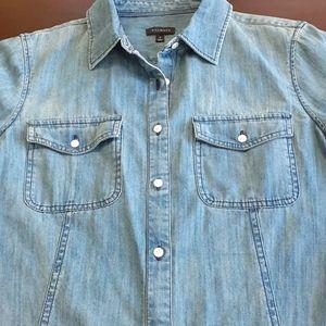 Talbots denim button-down shirt size 8
